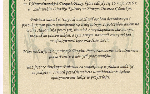 Pierwsze Targi Pracy w Nowym Dworze Gdańskim za nami